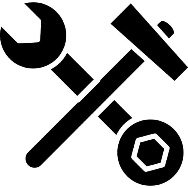 Chiave di doppia faccia e martello in croce scaricare - Contorno squalo martello ...
