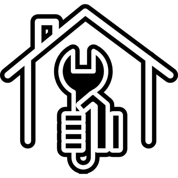 Chiave in una mano all 39 interno di una casa scaricare for Interno di una casa
