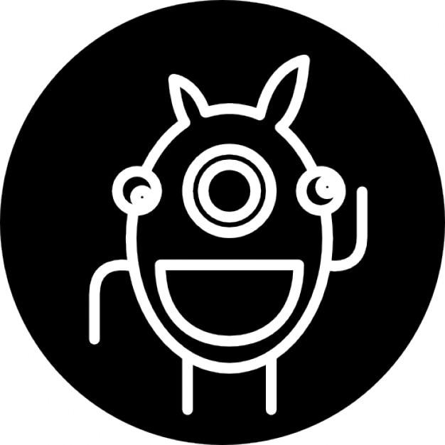 Contorno alieno in un cerchio scaricare icone gratis