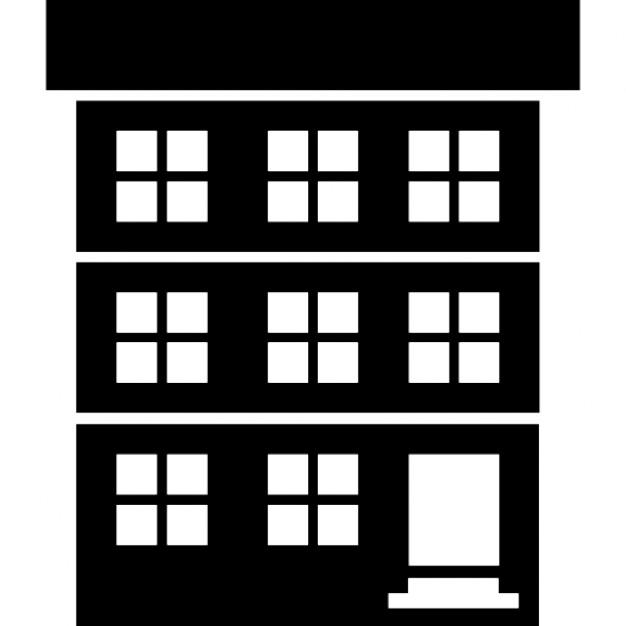 davanti casa di tre piani scaricare icone gratis