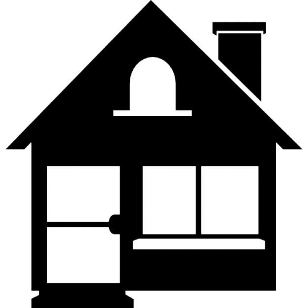 Elegante silhouette casa con il camino scaricare icone for Sito web dove puoi costruire la tua casa