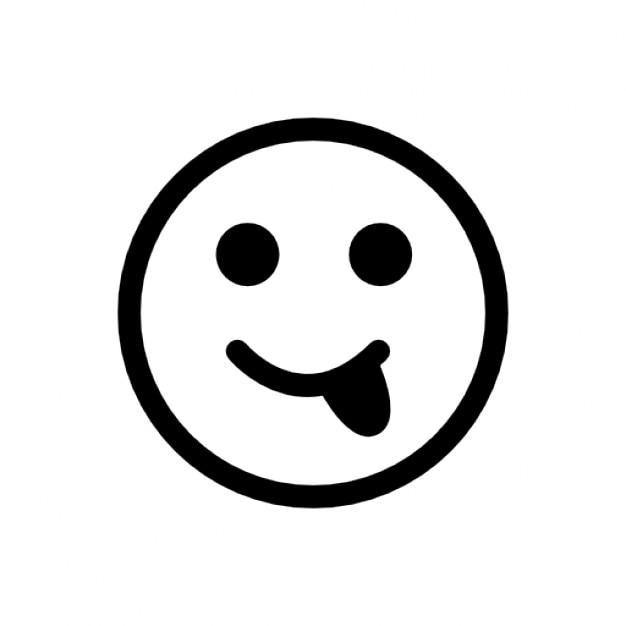 Faccia con la lingua fuori scaricare icone gratis