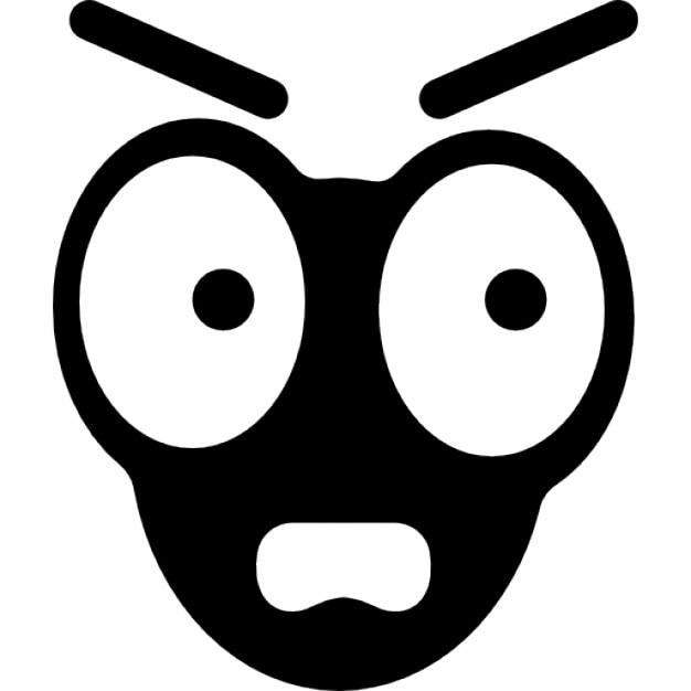 Faccia emoticon pazzo con grandi occhi scaricare icone
