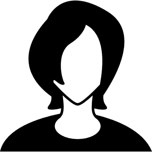 Giovane testa del ragazzo con i capelli lunghi scaricare