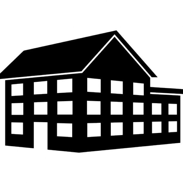 grande edificio casa di tre piani scaricare icone gratis