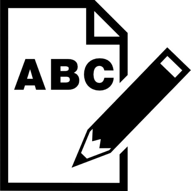 Lettere Abc Su Foglio Di Carta Con Un Simbolo Interfaccia Matita Icone Gratuite