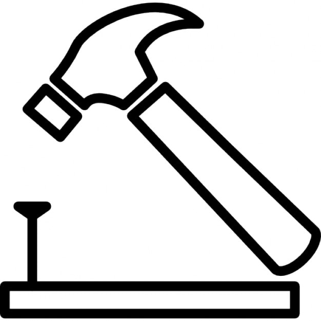 Martello e chiodi su legno contorno scaricare icone gratis - Contorno squalo martello ...