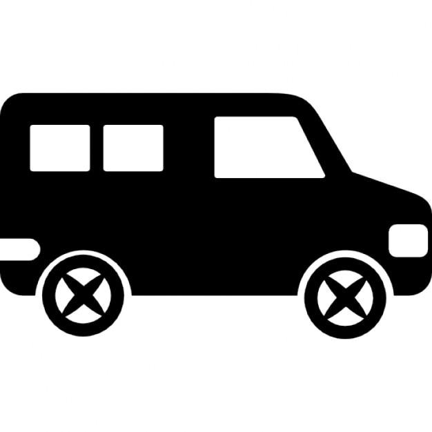 Minibus vista laterale scaricare icone gratis