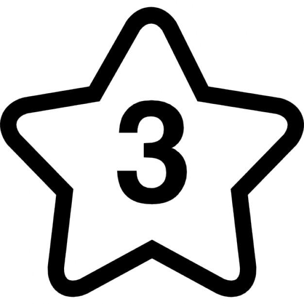 Numero di stelle 3 scaricare icone gratis for Numero parlamentari 5 stelle