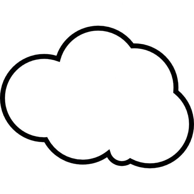 Nuvola bianca contorno scaricare icone gratis for Nuvola da colorare