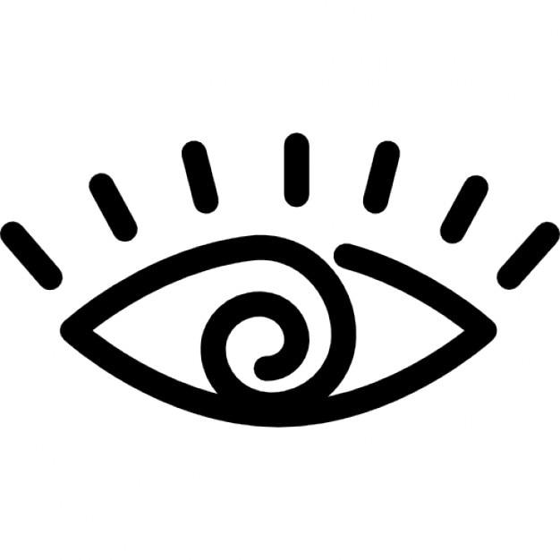 Occhi cartone animato variante contorno scaricare icone
