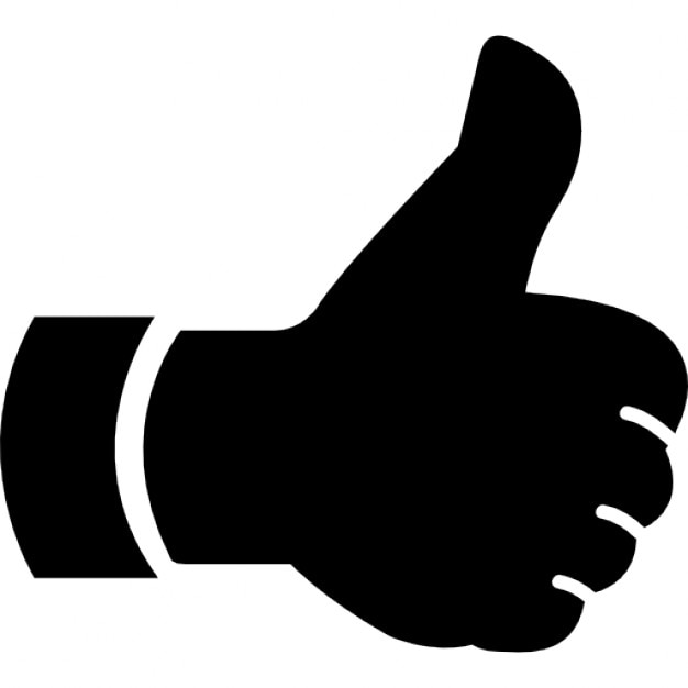 thumbs up hand symbol free gestures icons flaticon - 981×880