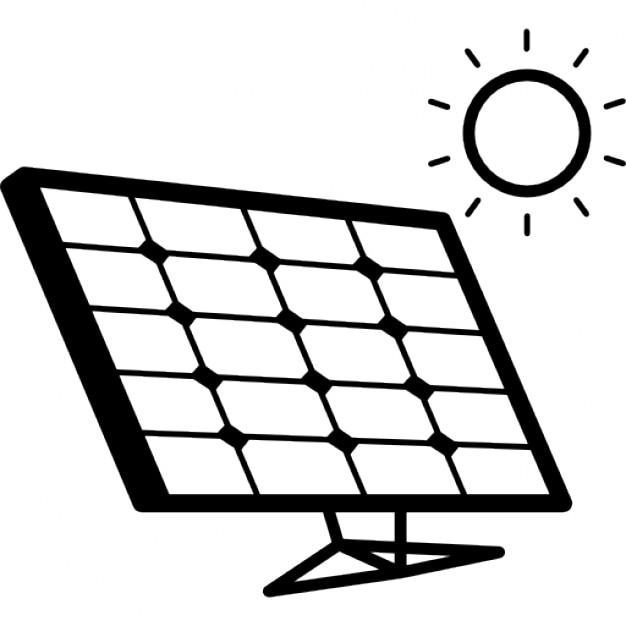 Pannello Solare Gratis : Pannello solare alla luce del sole scaricare icone gratis