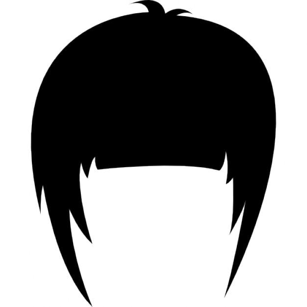 Parrucca di capelli con frangia laterale   Scaricare icone ...