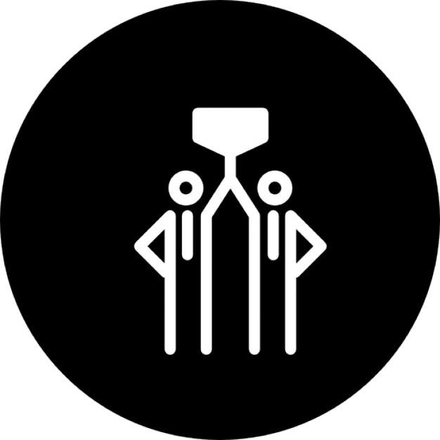 Persone premiare simbolo all interno di un cerchio