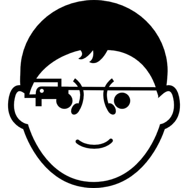 Ragazzo con gli occhiali google scaricare icone gratis