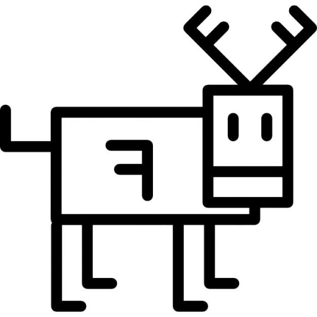 Renna cartone animato contorno scaricare icone gratis