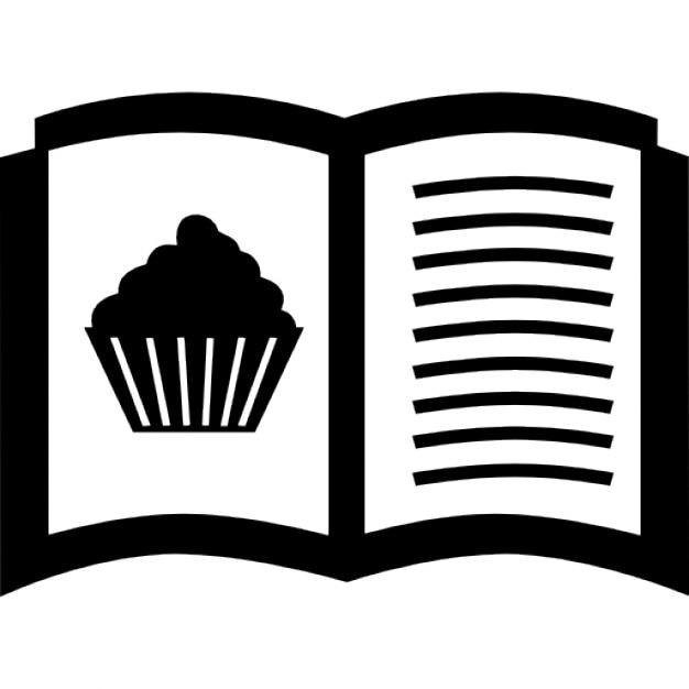ricette dolci aperto libro di cucina | scaricare icone gratis - Ricette Di Cucina Gratis