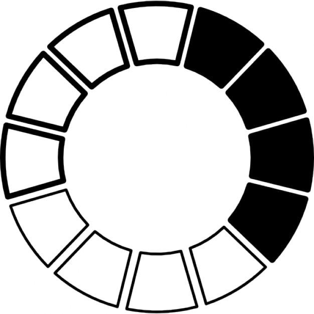Ruota dei colori bianco e nero scaricare icone gratis