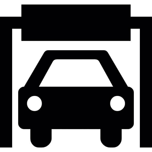 Sagoma di un auto in un garage scaricare icone gratis for Un garage per auto