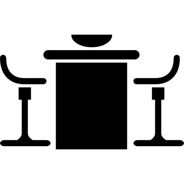 Tavolo da cucina e sedie set di mobili scaricare icone - Set tavolo e sedie cucina ...