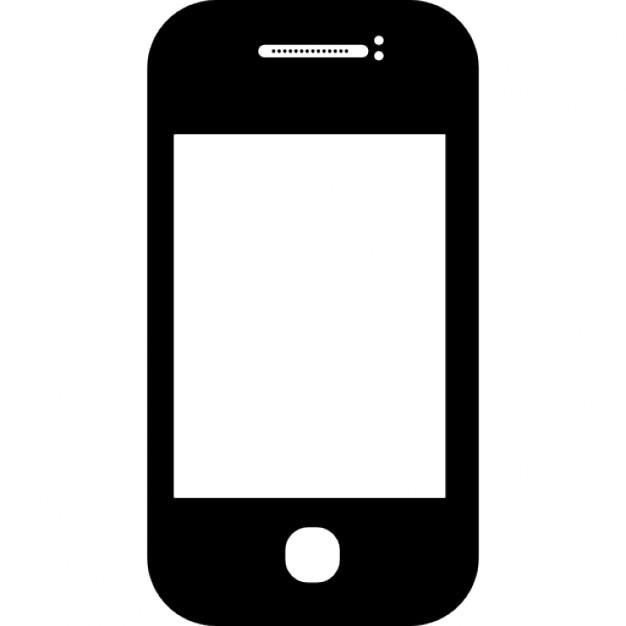 Telefono mobile di angoli arrotondati scaricare icone gratis for Mobile telefono