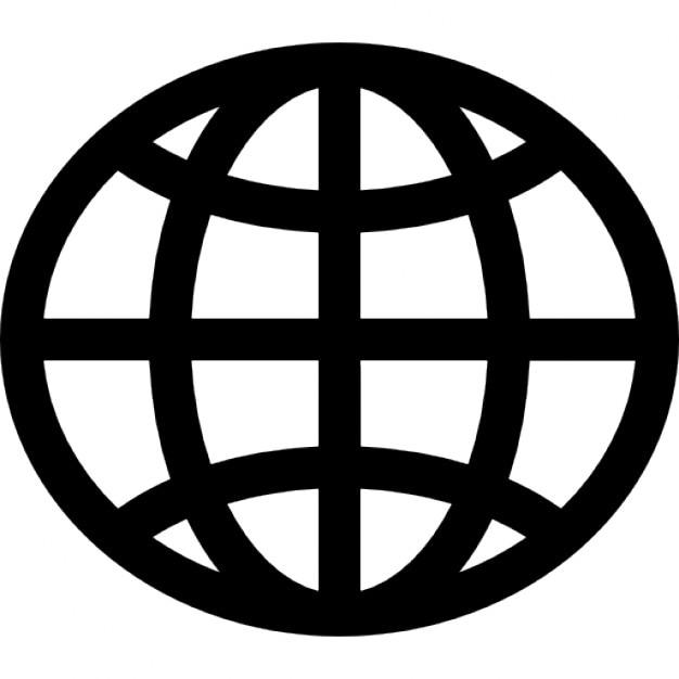 World wide web globo scaricare icone gratis for Logo sito internet