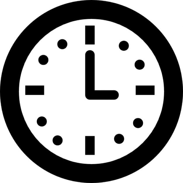 Cirkelvormige wand klok voor woonkamer Iconen | Gratis Download