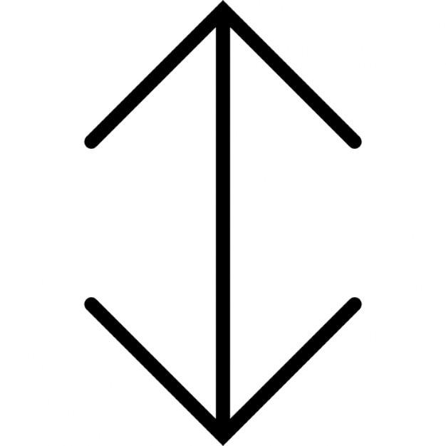 Dubbele pijl omhoog en omlaag Iconen   Gratis Download