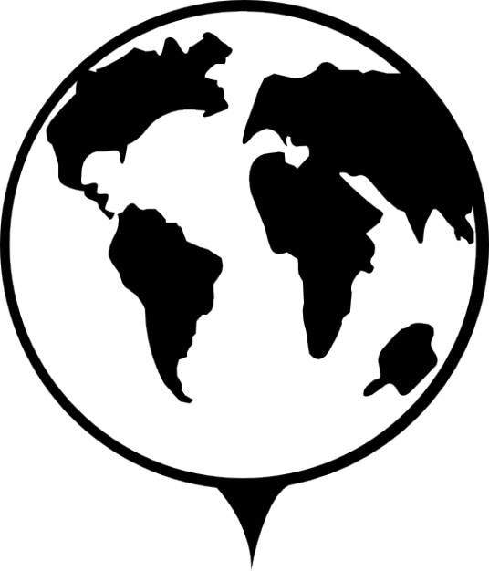 Earth globe signaal Gratis Icoon