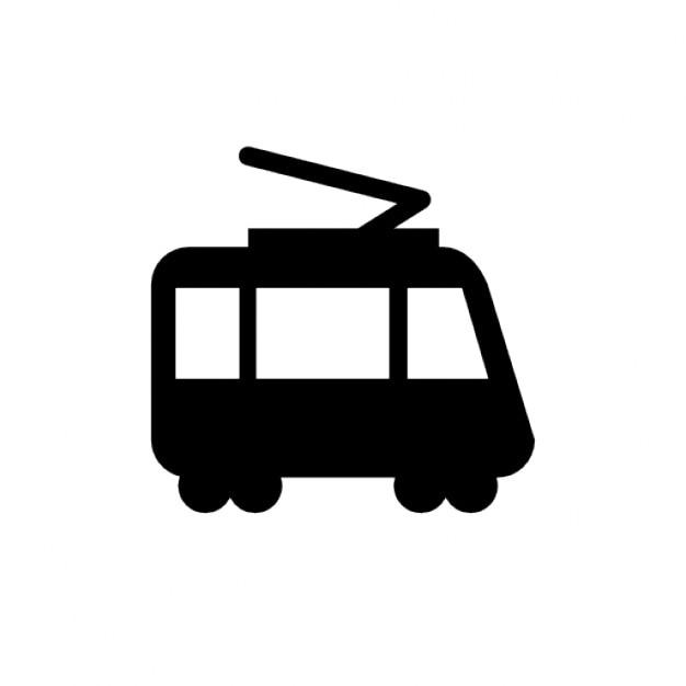 Een tram Gratis Icoon