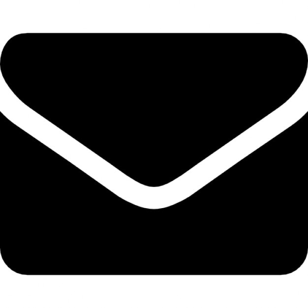 Enveloppe van rechthoekige afgeronde zwart design iconen