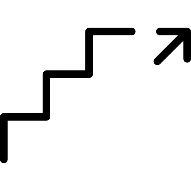 Ga naar boven teken iconen gratis download for Trap naar boven