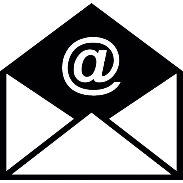 Geopende e-mail envelop Gratis Icoon