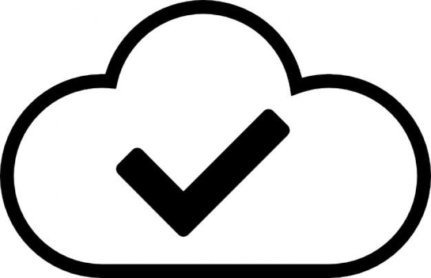 Goede cloud Gratis Icoon