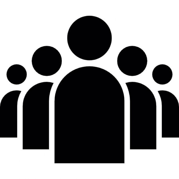 Groep mensen in een formatie Gratis Icoon