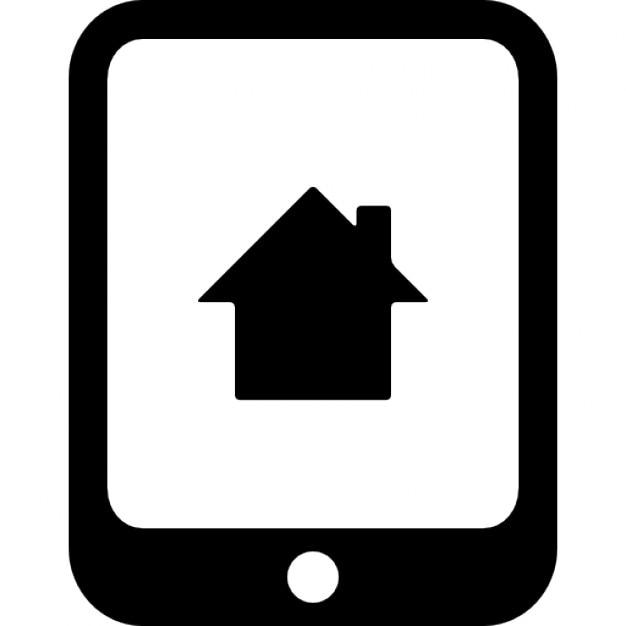Huis symbool op een tablet scherm iconen gratis download - Scherm huis ...