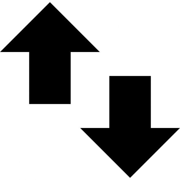 Kleine pijlen omhoog en omlaag Iconen   Gratis Download