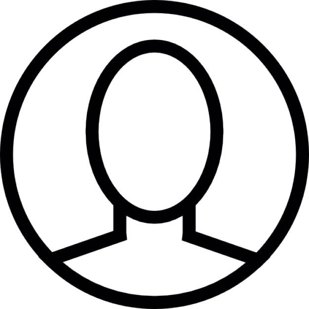 menselijk hoofd omtrek iconen gratis