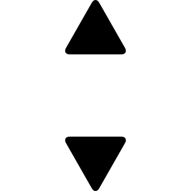 Omhoog en omlaag kleine driehoekige pijltjes Iconen   Gratis Download