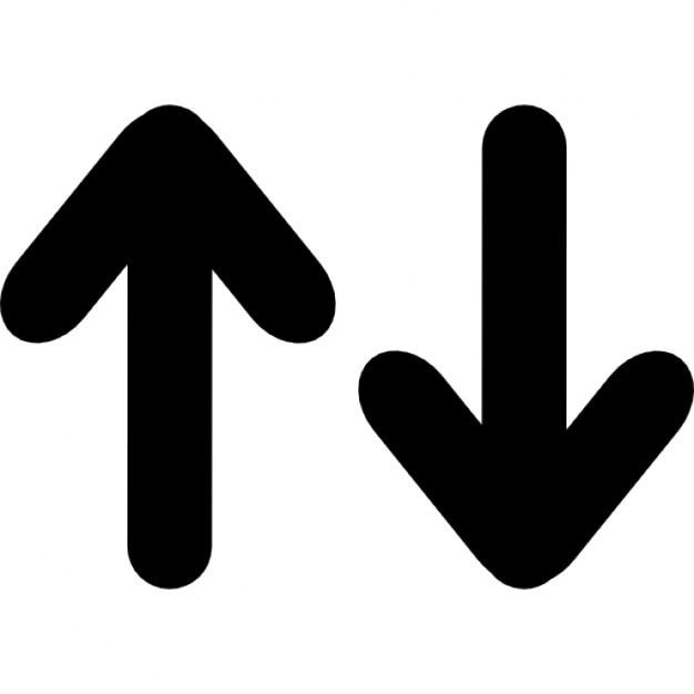 Omhoog en omlaag pijlen interface Iconen   Gratis Download