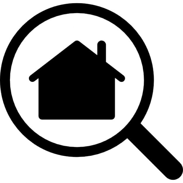 op zoek naar een huis iconen gratis download