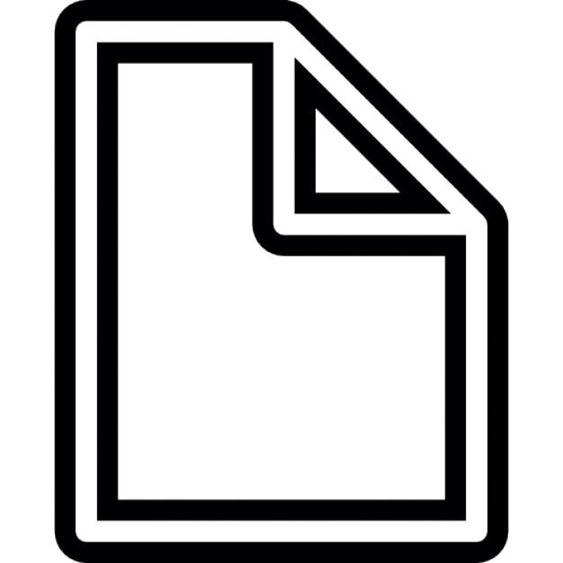 Pagina blanco dunne lijn met een gevouwen hoek ios 7 interface symbool iconen gratis download - Poel van blanco hoek ...