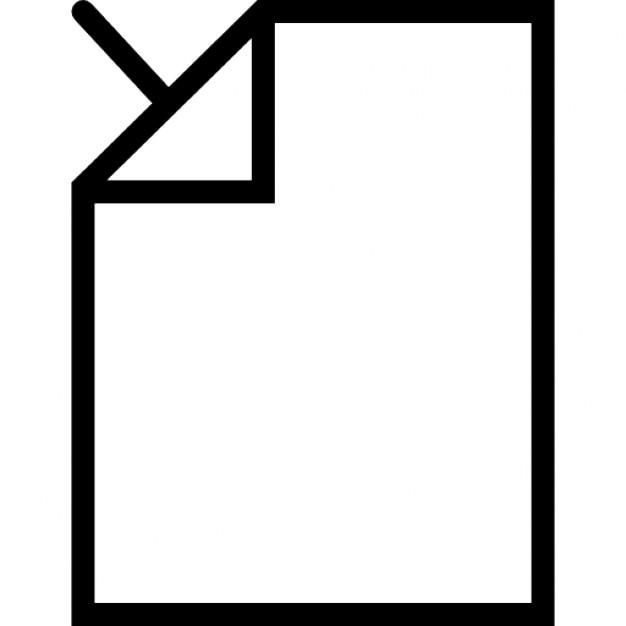 Pijl in de linkerbovenhoek van een gevouwen blanco pagina iconen gratis download - Poel van blanco hoek ...