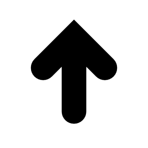 Pijl omhoog dik | Gratis Iconen
