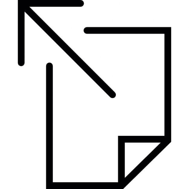 Pijl wijst uit de hoek van een lege pagina iconen gratis download - Poel van blanco hoek ...