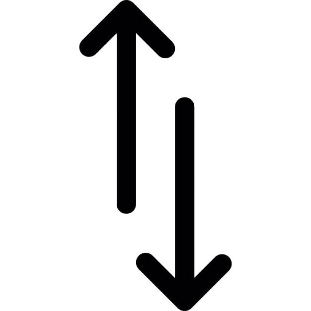 Pijlen omhoog en omlaag Iconen   Gratis Download