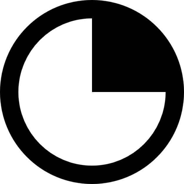 Round clock symbol free icon