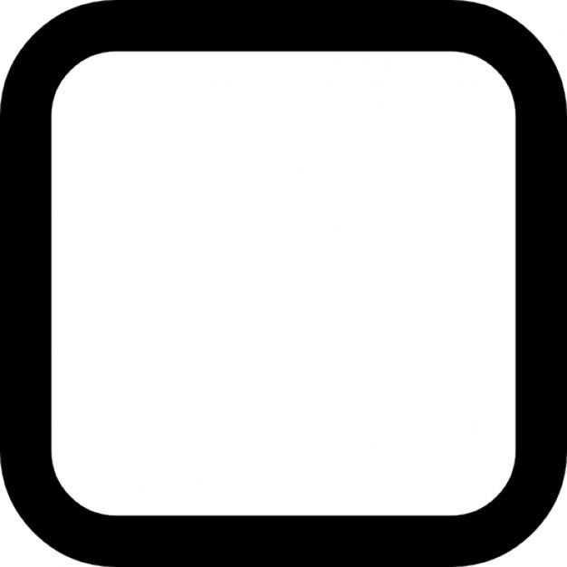 Selectievakje leeg afgeronde vierkant Iconen | Gratis Download
