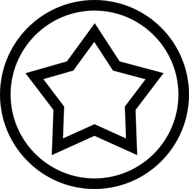Star Outline In Een Cirkel Lijn Iconen Gratis Download
